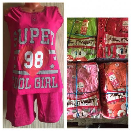 Пижама женская 2 в 1 (майка + шорты)